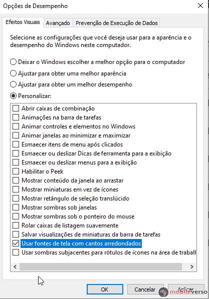 desativar os efeitos do windows para melhorar o desempenho e aumentar o FPS do Free Fire em emuladores