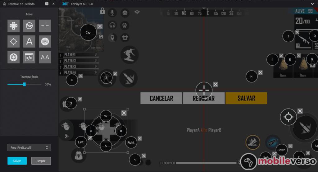 configurar teclado no xeplayer