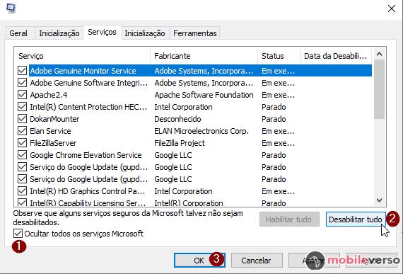 desativar os serviços do Windows para melhorar o desempenho do PC