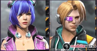 Passe Cyberpunk rosto das skins