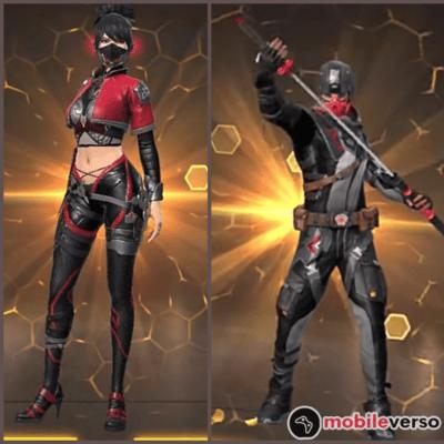 Skins Passe de Elite dos Ninjas Combate da Escuridão