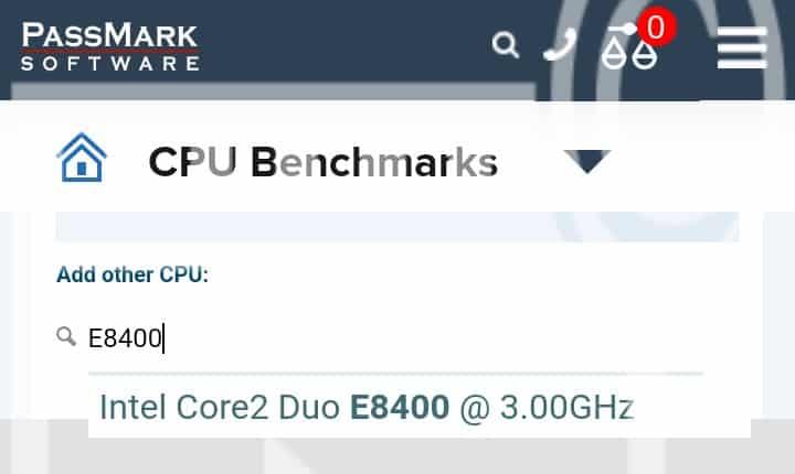 Comparar CPU  requisito mínimo valorant