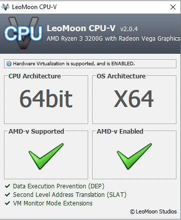virtualização por hardware ativa
