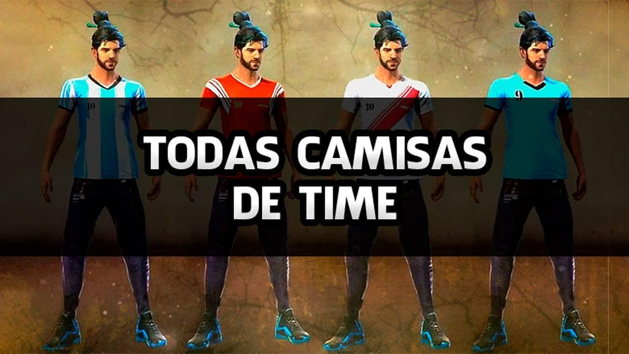 Todas as Camisas de Time do Free Fire e seus nomes