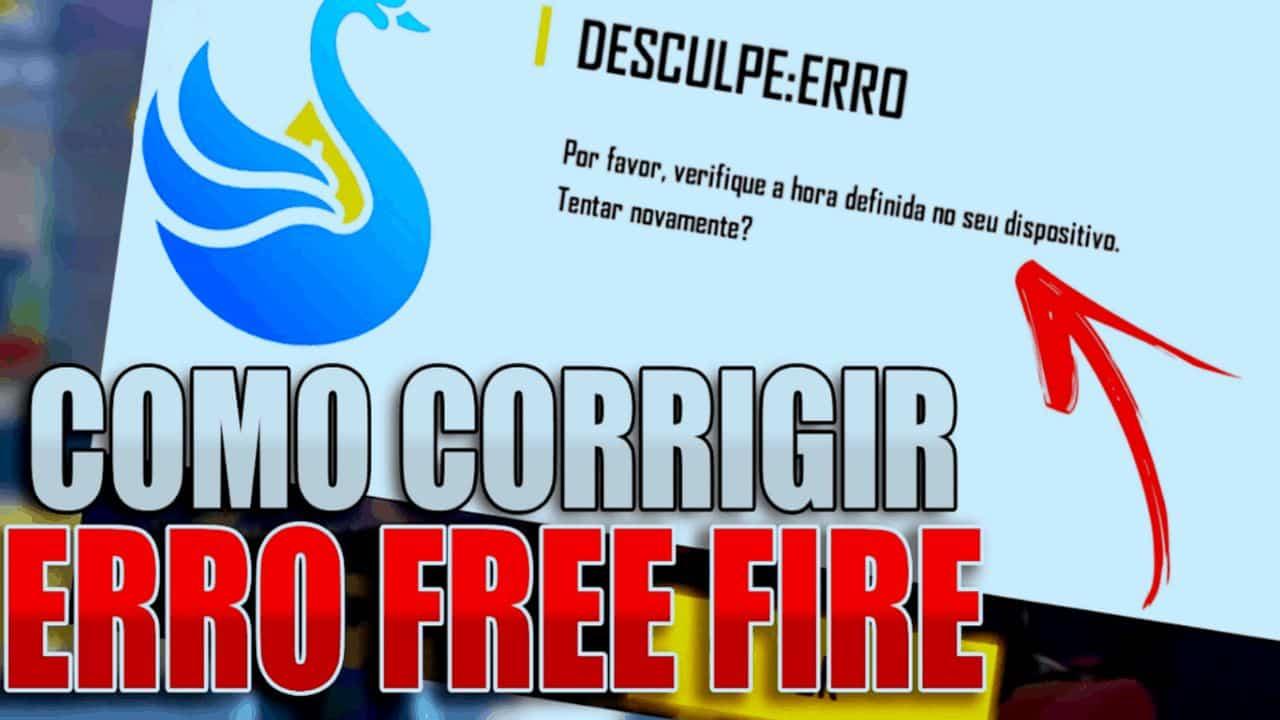 falha ao definir hora free fire