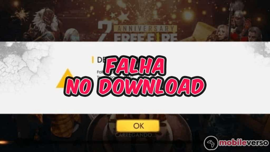 Falha no download free fire