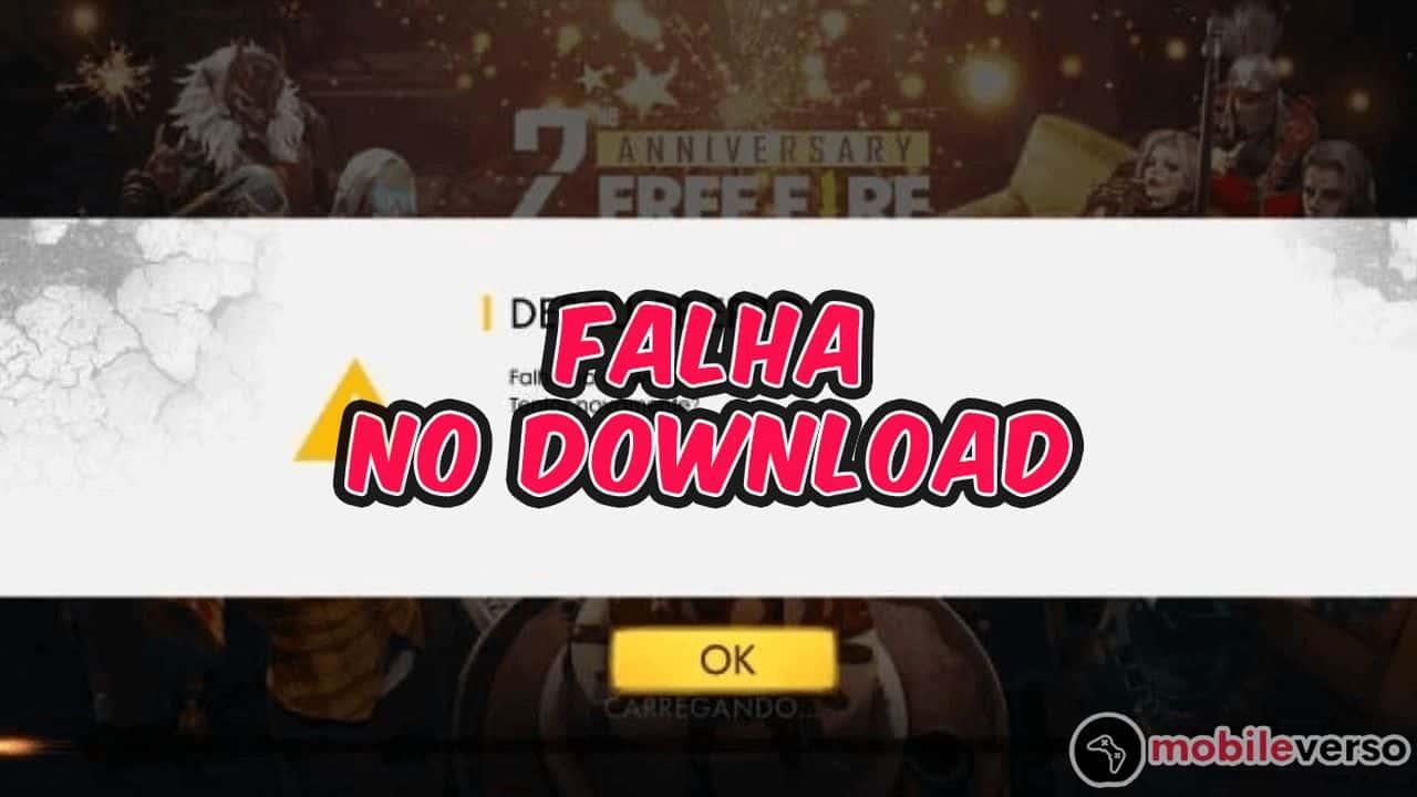 Falha no download free fire