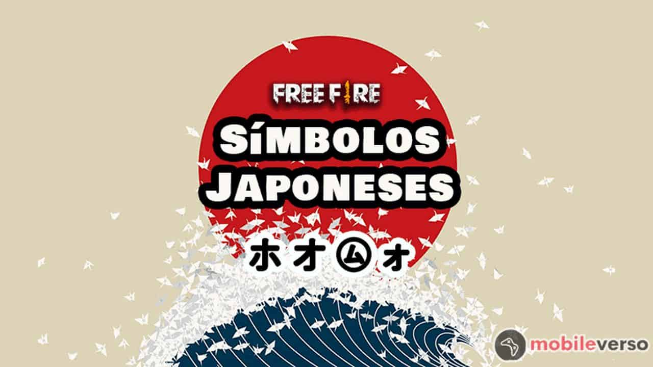 simbolos japoneses para nick free fire
