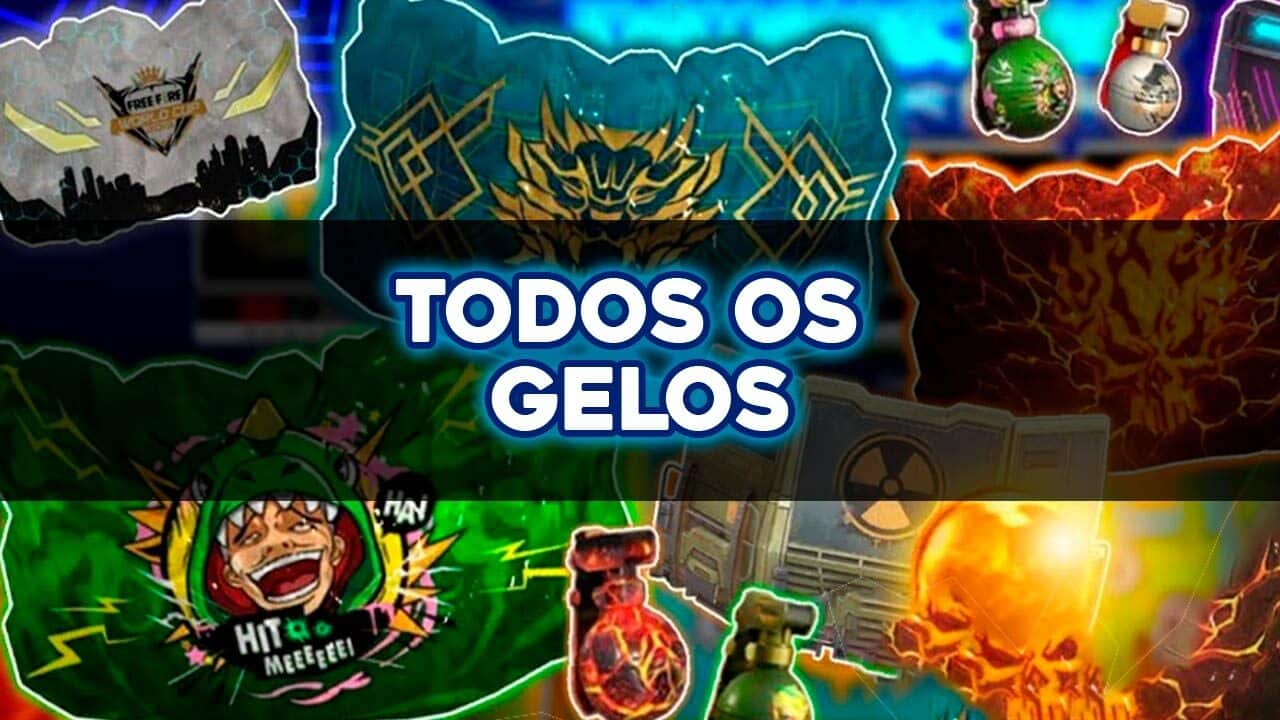 Todos as skins de Gelos do Free Fire
