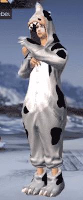 skin dino vaca boi ff