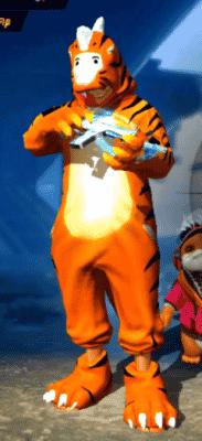 skin dino tigre ff
