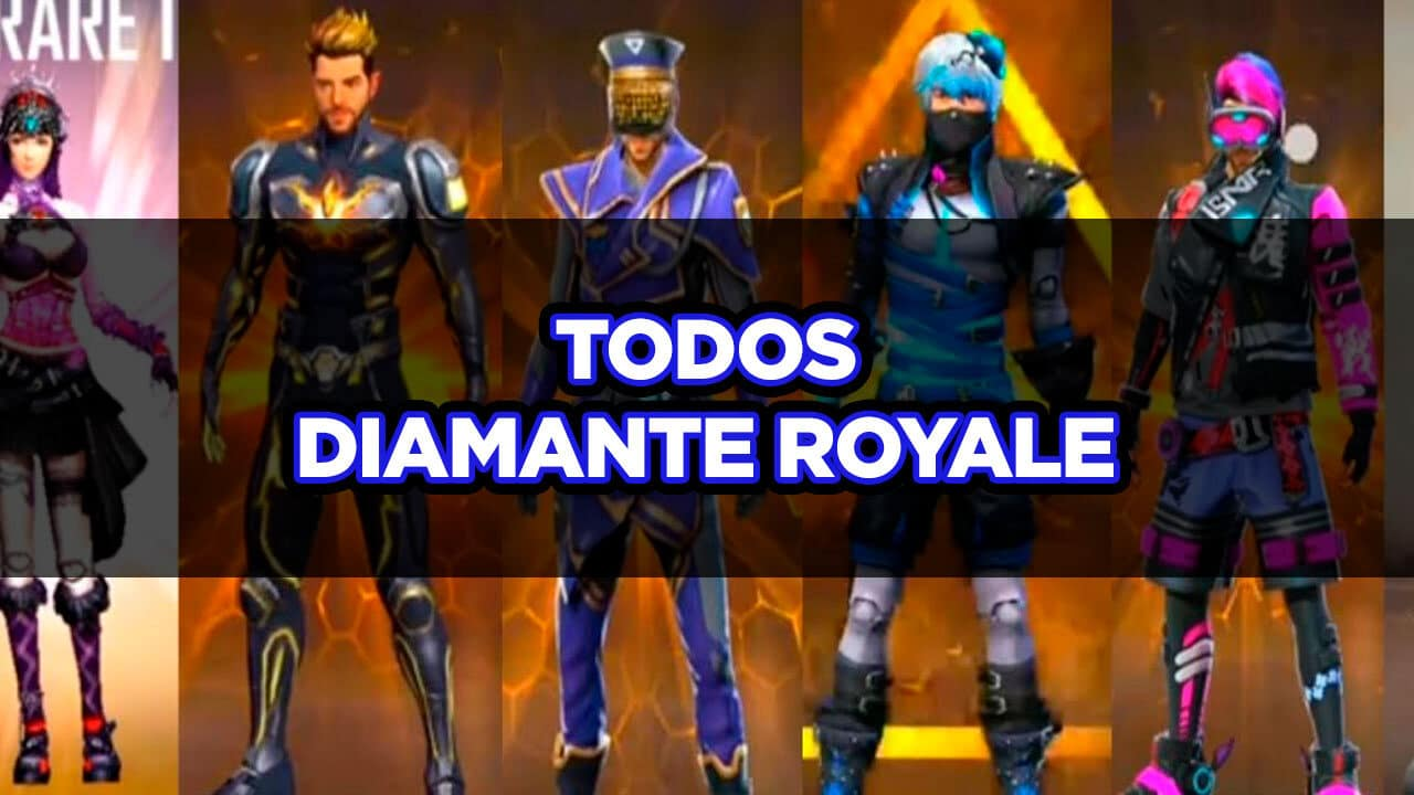todos os diamante royale do ff