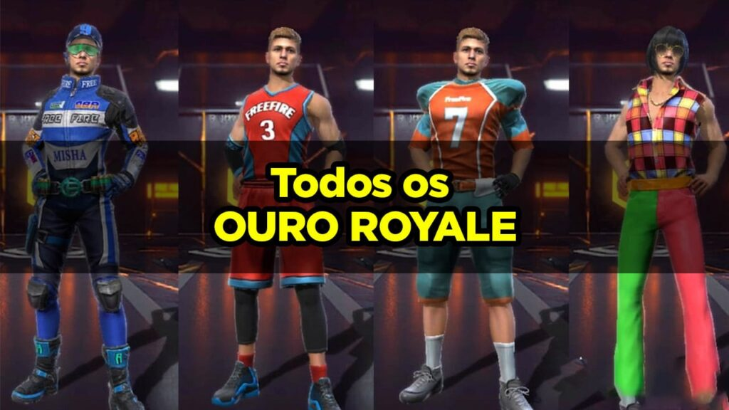 TODOS OS OURO ROYALE DO FREE FIRE