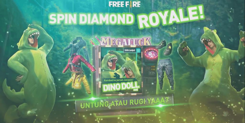 dinossauro diamante royale 1 Free Fire