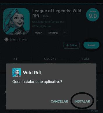 instalar o wild rift Wild Rift