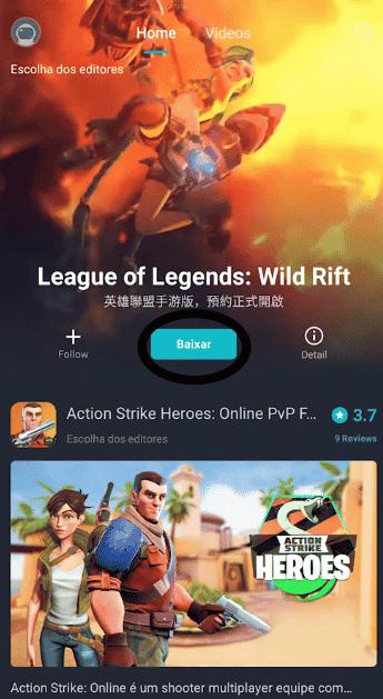 league of legends aparecendo em alta Wild Rift