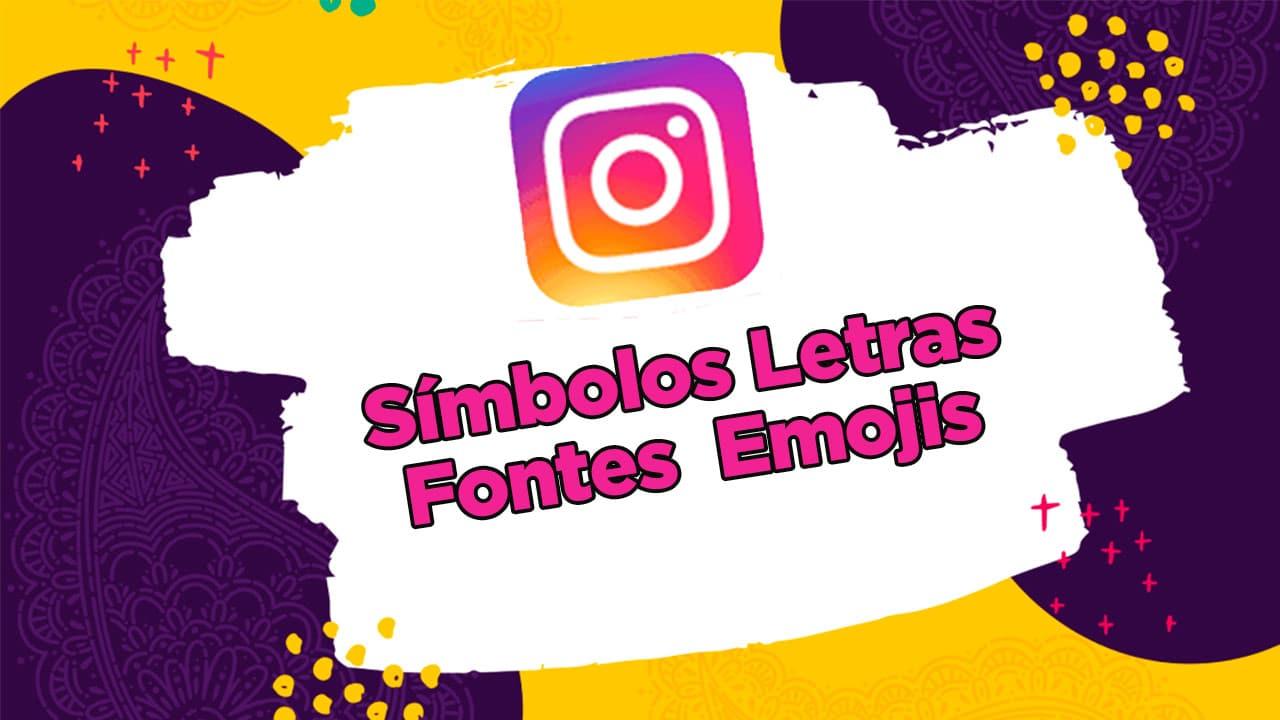 símbolos letras emojis para Instagram