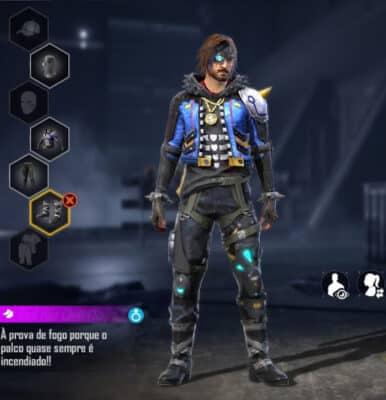 combinação de skins Comando e Skatista