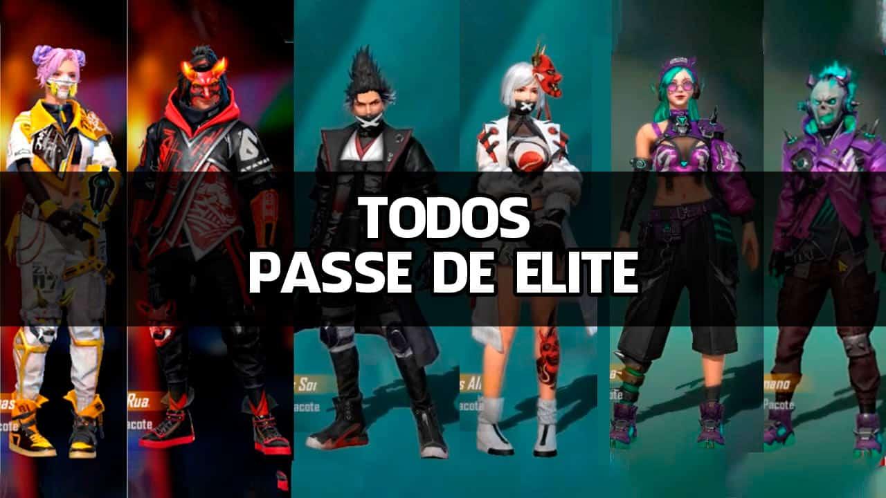 Free Fire: Todos os Passe de Elite já lançados (2018-2021)